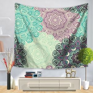 *ARMELLE* Purple x Blue Paisley Wall Tapestry